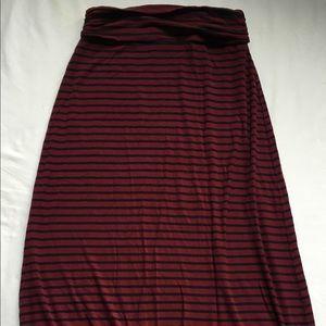 J. Crew cotton maxi skirt